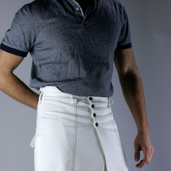 Jupe pour homme blanche style tennis