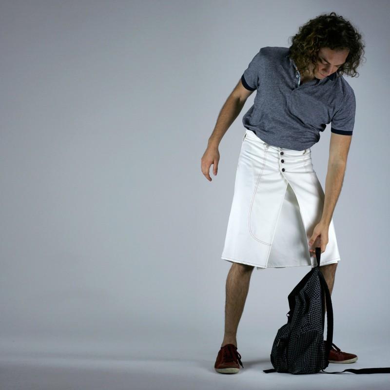 COPENHAGUE chemise bleue-noire