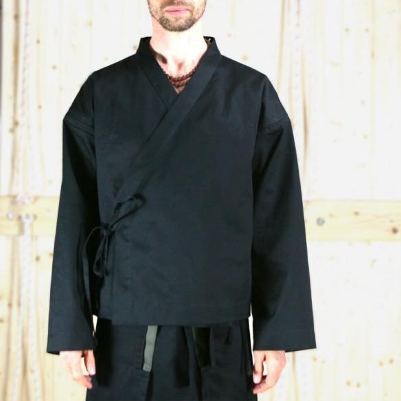 urban genderfluide black kimono
