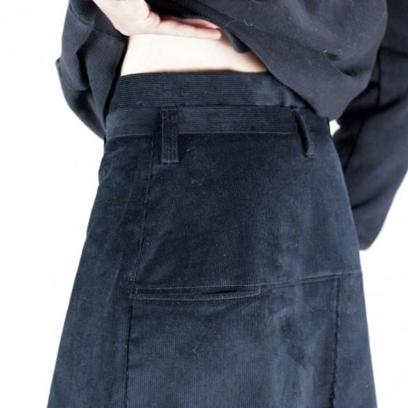 jupe d'homme style skate velours noir