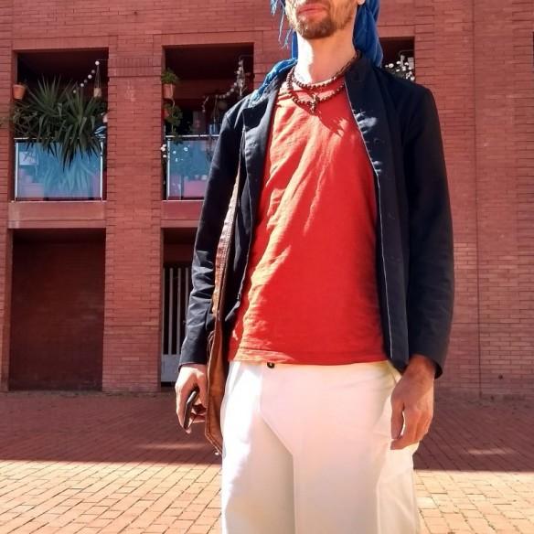 jupe pour homme à bretelle coupe mixte