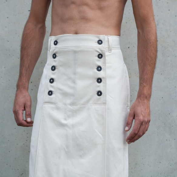 jupe longue KENDO blanche