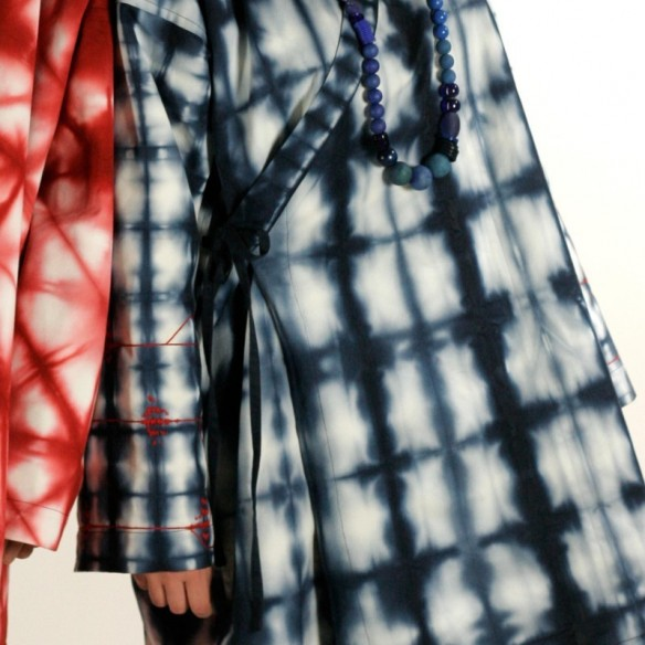 Kimono Shibori Bleu Unisexe