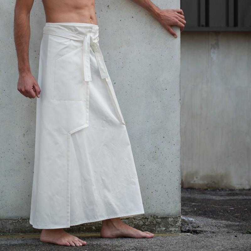 NINJA blanche hakama masculin de cérémonie
