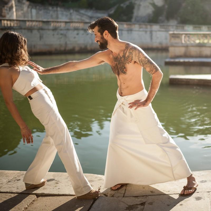 jupe longue NINJA blanche