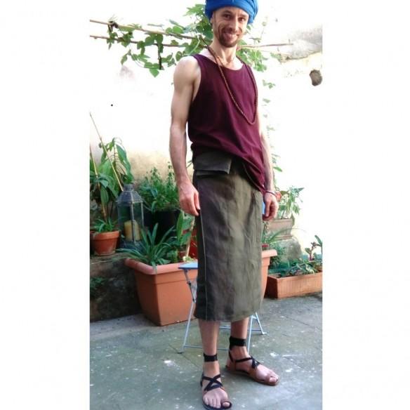 PRANA kaki pagne mi-long d'été