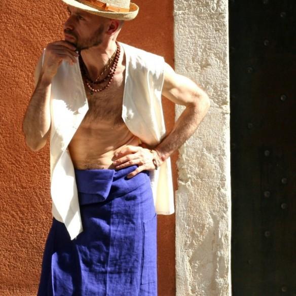 PRANA indigo pagne mi-long d'été