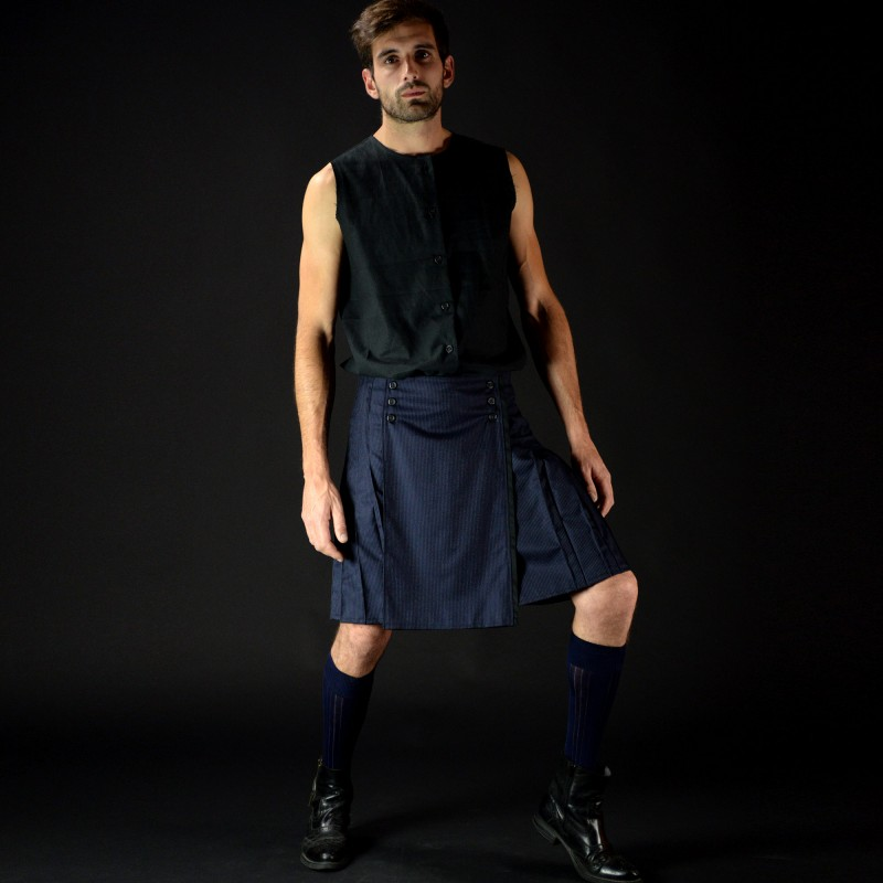 PRIMULA VERIS pleated neo-kilt with...