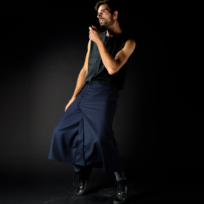 PRUNUS SPINOSA jupe mi-longue coupe...
