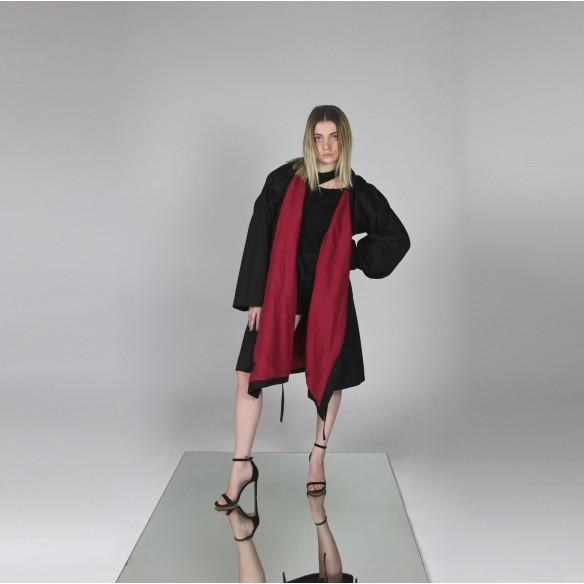 designer kimono coat with hood