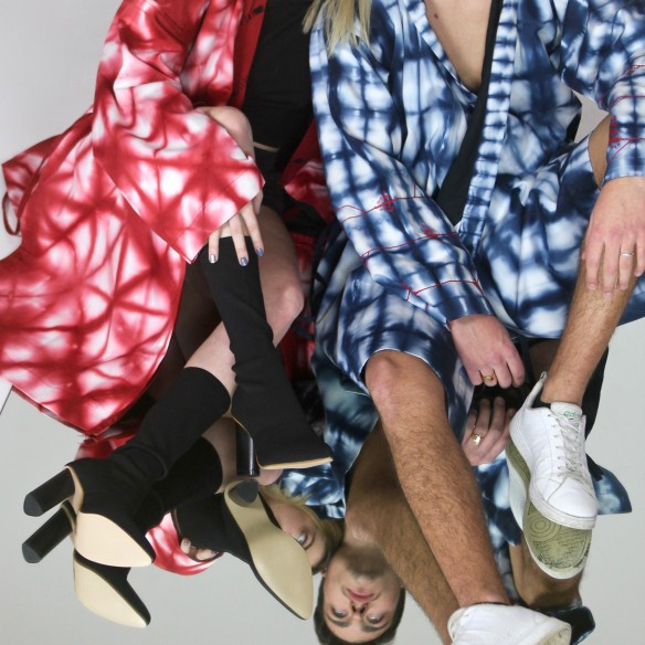 kimono à capuche urbain shibori brodé