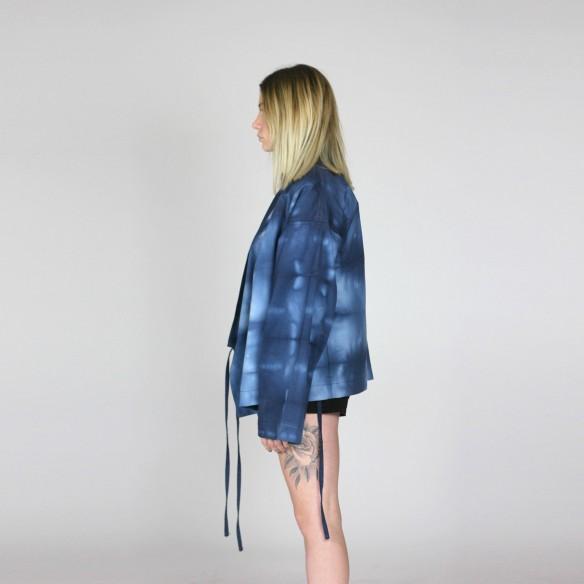 kimono designer teint en shibori