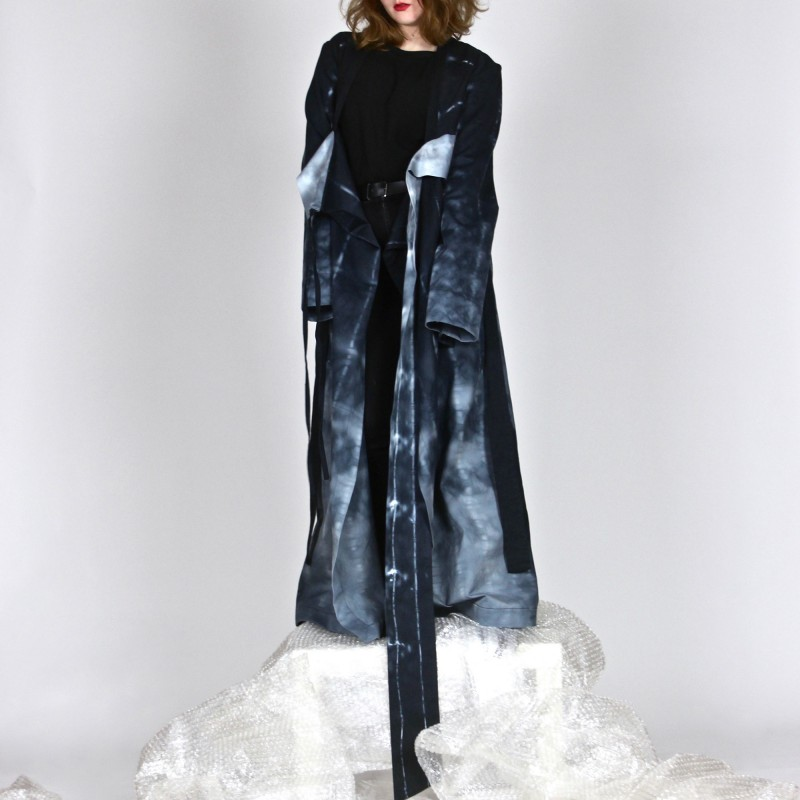 GEISHA DRESS shibori hand-dyed