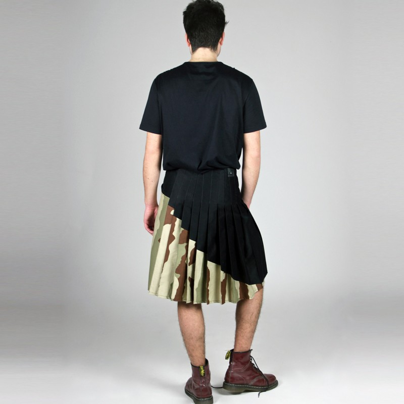 JUNGLE RUSHER pleated neo-kilt two...