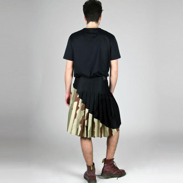 neo kilt coton bi-matière camouflage