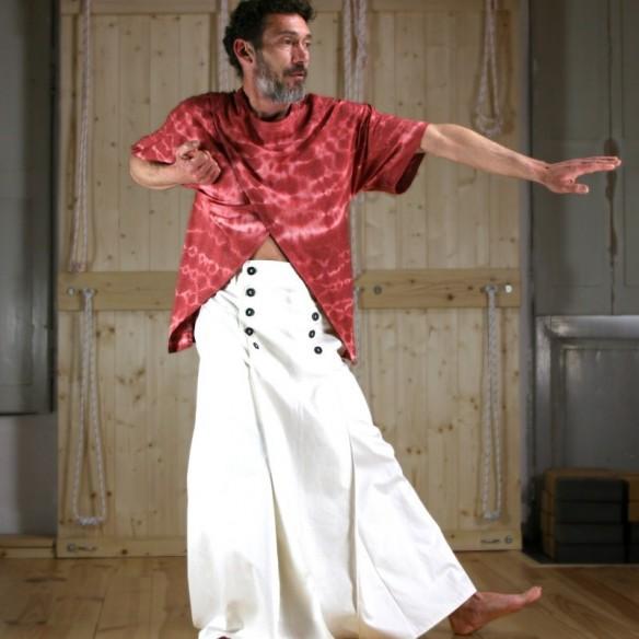 Kimono'shirt shibori rouge