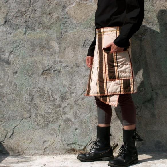 jupe d'homme matelassée fibre recyclée