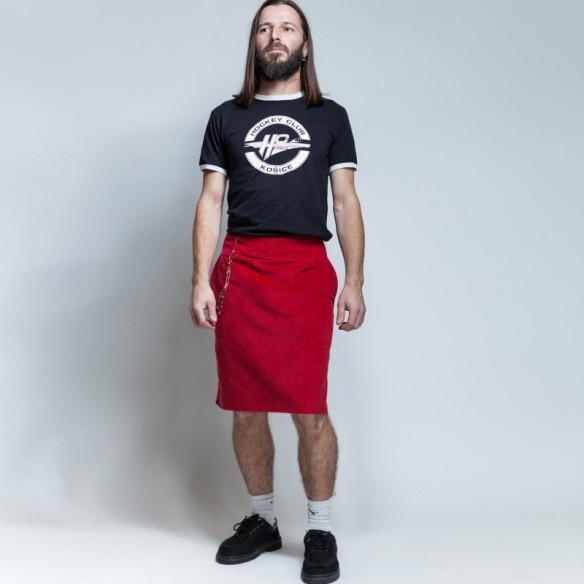 british style neo kilt style in red velvet