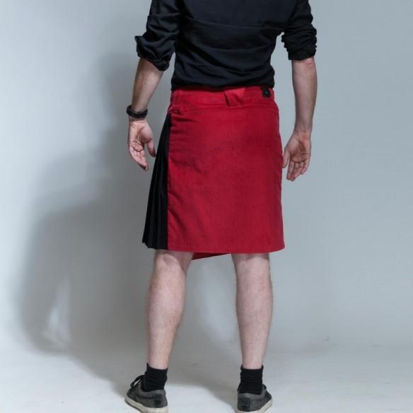 kilt masculin asymétrique bi-matière