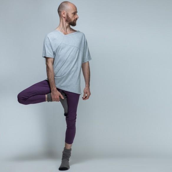 Leggings violet à boutons