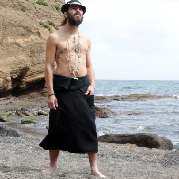 modern loincloth for man with an asymmetrical belt