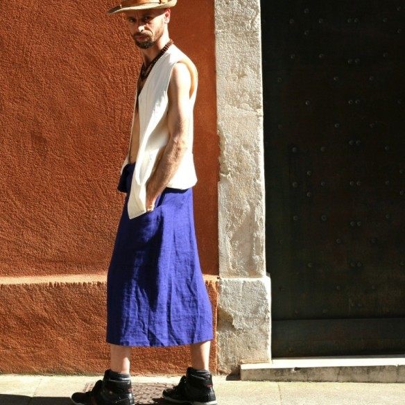 masculine urban loincloth with a pocket