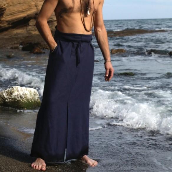 IYENGAR hakama bleu d'été