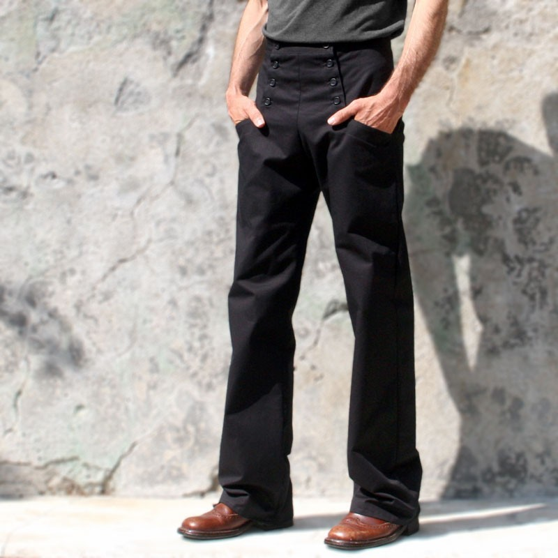 Pantalon à pont noir