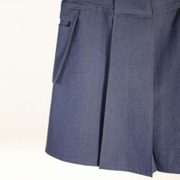 KILT laine vintage bleue