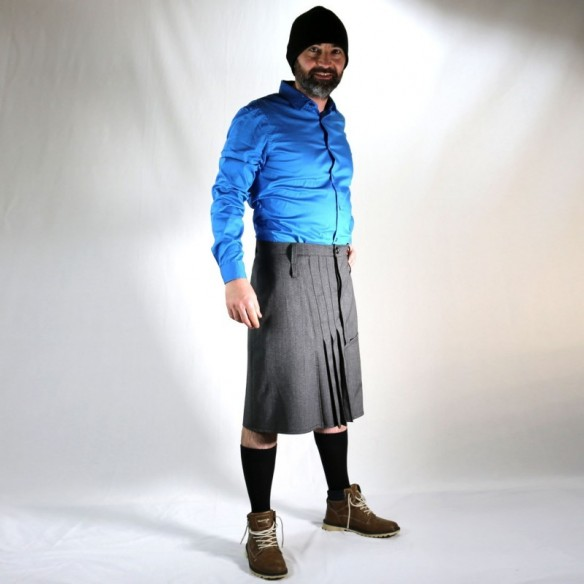 jupe urbaine COW-BOY laine grise