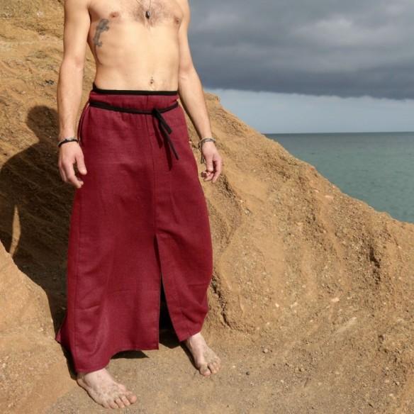 hakama d'homme forme longhi en lin d'été