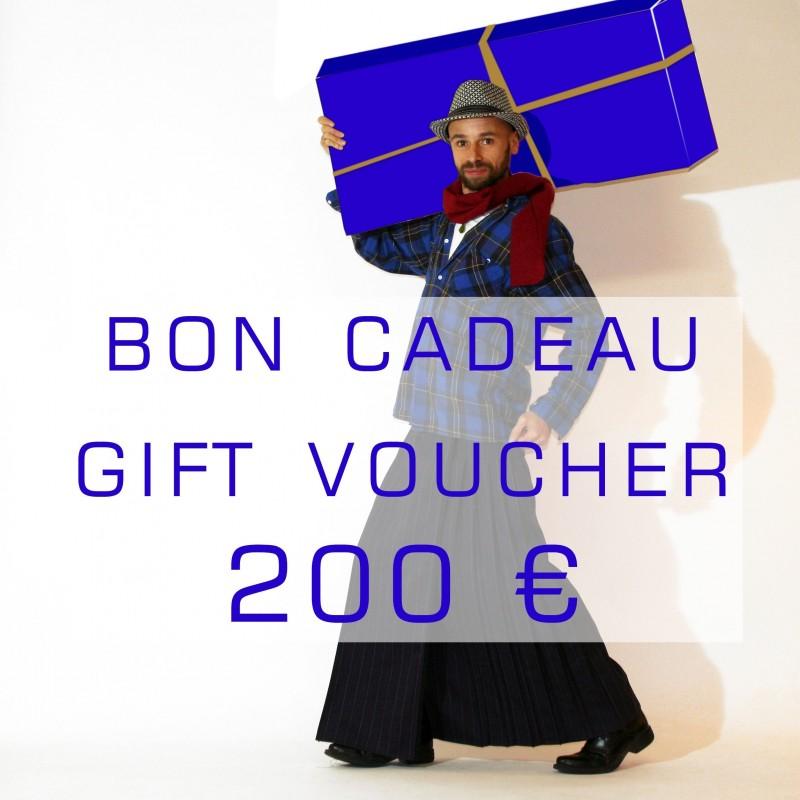 bon cadeau 200 euros