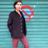 Pantalon coupe jean UN-BIN bordeau t42